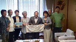 与党会派の県議会議員とともに沖縄県副知事と面談(9月3日)