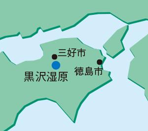 黒沢湿原地図
