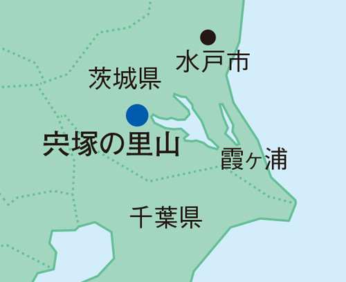 宍塚の里山の地図