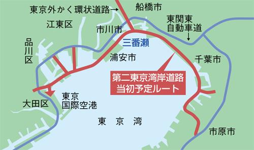 第2東京湾岸道路当初予定ルート