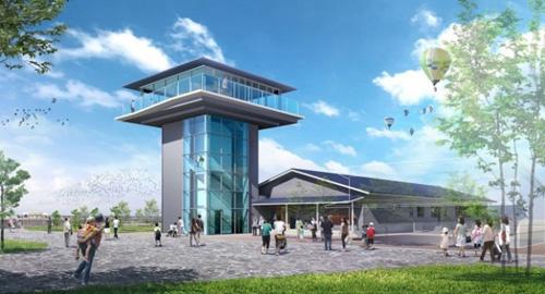 ビジターセンターの完成予想図