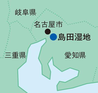 島田湿地の地図