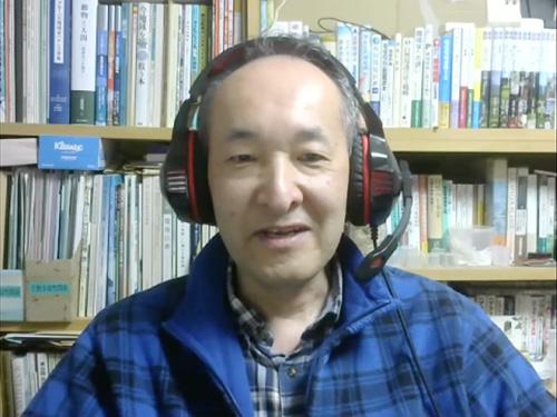 草刈秀紀さん(Zoom映像)